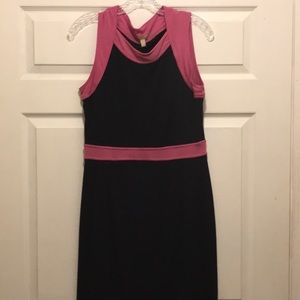 Women's Banana Republic dress in black and pink